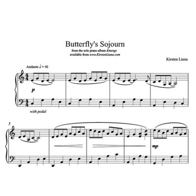 Butterflys Sojourn Piano Sheet Music